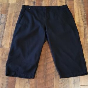 Dress Barn Black Capri size 2X